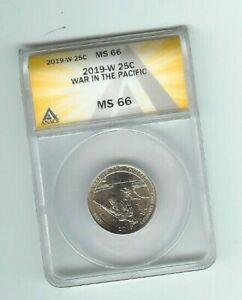2019 w war in the pacific quarter  anacs ms66