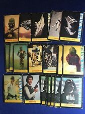 WONDER BREAD STAR WARS Trading Cards 19 card lot Topps 1977 Luke, Darth etc.