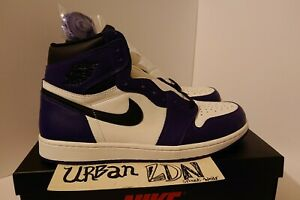Nike Air Jordan 1 High Court Purple UK10.5 EU45.5 US11.5 *Brand New* 555088-500
