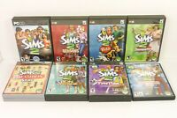 SIMS 2 PC Game 8X LOT Core Game Six Expansions Apartment Life Pets Freetime MORE