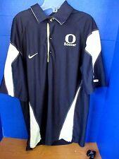 NIKE Dri-Fit~Blue White OREGON DUCKS SOCCER Polo Shirt~Men's Medium