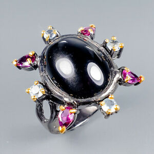 Handmade Natural Spinel 925 Sterling Silver Ring Size 7.5/R117837