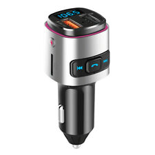 Bluetooth Car Charger FM Transmitter Car Fast Charging with Dual USB Port
