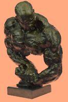 BRONZE STATUE--MALE NUDE--GAY INTEREST BODYBUILDER MUSCULAR ART DECORATIVE GIFT