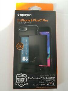 iPhone 8 Plus/7 Plus Spigen Air Cushion Military Grade Drop Protection Black...