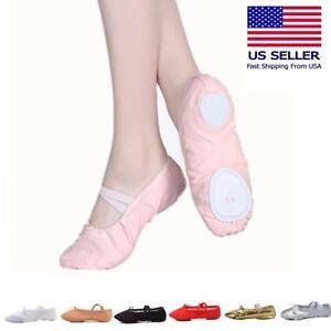 Ballet Dance Slipper Split-Sole Canvas Shoes