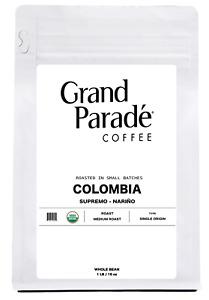 Organic Colombian Medium Roast Whole Bean Coffee, Fresh Roasted Daily, 1 lb Bag