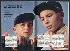 1959 TV ARTICLE~JOHNNY CRAWFORD MARK McCAIN on THE RIFLEMAN~DISNEY MOUSEKETEER