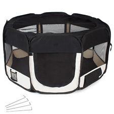 Parc à chiots chatons Enclos pliable noir transportable pour chiens ou chats