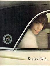 Ford custom 500 galaxie xl ltd 1967 usa market sales brochure