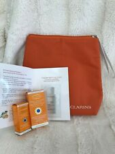 Clarins 4 Pieces Cosmetic Skin Care UV Gift Set (Travel Size)