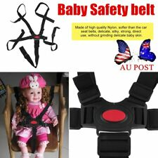 5 Point Harness Stroller High Chair Pram Buggy Car Safe Belt Strap Baby OE