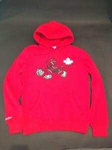 Toronto Raptors Red Canada Day Run Dino Hoodie by Mitchell & Ness