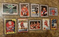 (10) Eric Lindros 1990-91 Score Upper 1989 7th Sketch Rookie card lot RC set HOF