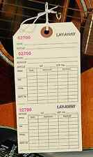 LOt 50 Layaway Tags Receipt Copy Jewelry Retail Price 3x6  2-part Coupon Loan