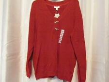 NWT Charter Club Woman Red Sweater Long Sleeve 2X Org $69.50