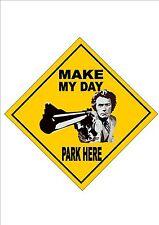 Clint Eastwood no hay aparcamiento novedad broma Ulk Diseño Letrero De Metal Placa de pared