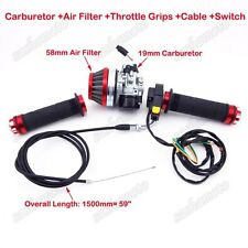 Carburetor Air Filter Throttle Grips Cable Switch 50cc 60 80cc Motorized Bicycle