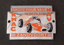 Vintage GROTE PRIJS VAN NEDERLAND Dutch Grand Prix Formula 1 Car Grille Badge