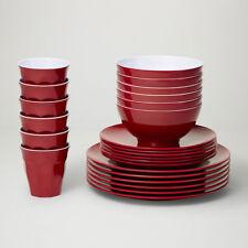 Barel Designs Classic Merlot Melamine 48 Piece Dinner Set - Cups, Bowls, Plates