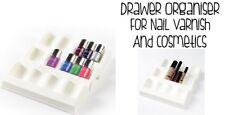 Drawer Organiser For Nail Varnish & Cosmetics From BetterWare White Brand New