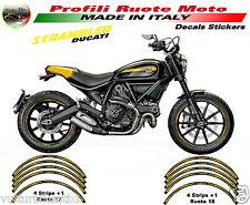 adesivi ruote moto Ducati Scrambler Profili cerchi Scrambler full-throttle