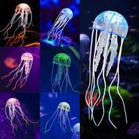 Aquarium Jellyfish Decoration Glowing Effect Fish Tank Artificial Ornament US