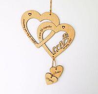 Personalised Wedding Heart, Engagement Hearts, Birthday, Anniversary, Love Gift