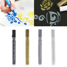4x Waterproof Acrylic Paint Markers Pen for Glass,Metal, Wood,Ceramic,Fabric