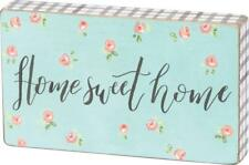 Primitives By Kathy HOME SWEET HOME Box Sign NEW Cottage Chic French Country