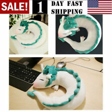 Animal U-Shape Neck Pillow Anime Spirited Away White Dragon Haku Plush Doll Us!