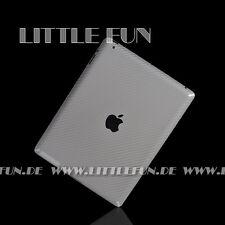 Schutzfolie Carbon Klebefolie für iPad 2 3G Aufkleber Sticker Hülle Case Silber