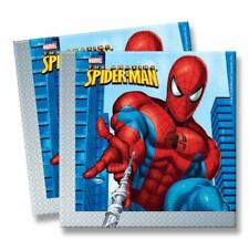 Amazing Spiderman Childs Kids Birthday Party Paper Napkins Serviettes 40 Pack