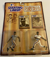 Willie McCovey & Willie Mays - Starting Lineup Baseball Greats Kenner 1989 A