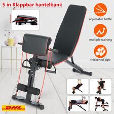 Mehrzweck Fitnessclub Hantelbank Trainingsbank mit verstellbarem Rücken +Zugseil