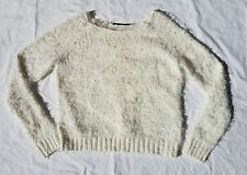 AS NEW Portmans Fluffy Soft Angora-Like Jumper Sweater 90's Grunge Cream Size XS