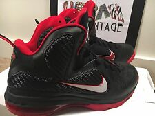 NIKE LEBRON 9 SZ 9 469764-003 AWAY SOUTH BEACH ELITE 10 IX X HEAT BRED