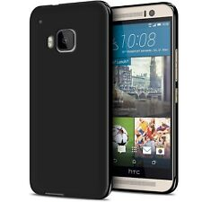 Coque HTC One M9 Semi Rigide Gel Extra Fine Mat/Brillant TPU Opaque Noir