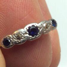 100 Year Old 18k Yellow Gold  Diamonds Sapphires Ring London