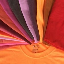 Lot 18 Mens T-shirts Blank C Port & Co Variety Rainbow Colors Sz Sm Med L XL XXL