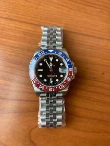 Cronos GMT Blue-Red Automatic Watch