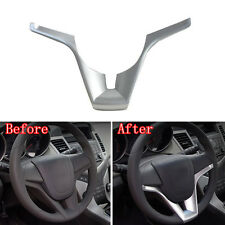1Pc Silver Interior ABS Steering Wheel Cover Decor Trim For Chevy Cruze 10-2014