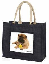 'Happy Easter' Shar-Pei Dog Large Black Shopping Bag Christmas Pre, AD-SH2DA1BLB
