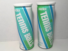 Vintage Penn Tennis Practice Balls, Vacuum Packed Tin Can Unopened, Lot of 2