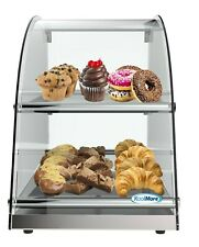13 Countertop Bakery 2 Tier Display Case With Front Curved Glass And Rear Doors