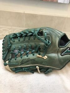 "Mizuno GMVP-1277 PSE2 12.75"" Green Baseball Softball Glove Left Hand Throw"