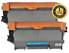 2pk Toner for Brother TN450 HL-2240 HL-2240D HL-2242D HL-2250DN HL-2270DW