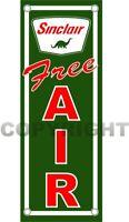 "SINCLAIR Dino FREE AIR Gasoline Oil & Gas Station Aluminum 16"" x 6"" Sign"