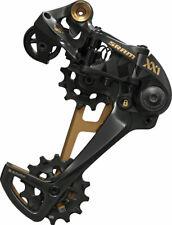 SRAM XX1 Eagle 12-Speed Type 3 Rear Derailleur, Black with Gold / Carbon Trim