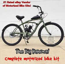 The Big Kahuna - Motorized 66cc Engine & Cruiser Bicycle - Motor Bike Kit - Diy